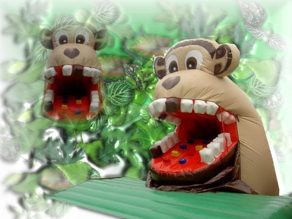 Snappy Monkey mit bewegl. Maul und Rutsche